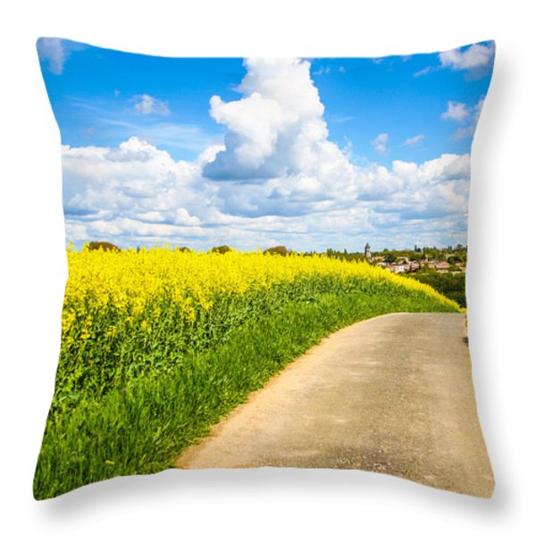 French Countryside Throw Pillow by Nila Newsom