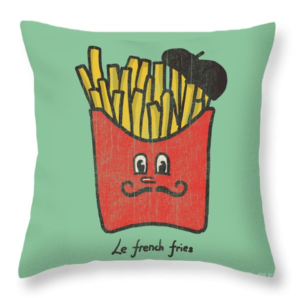 French Fries Throw Pillow by Budi Satria Kwan