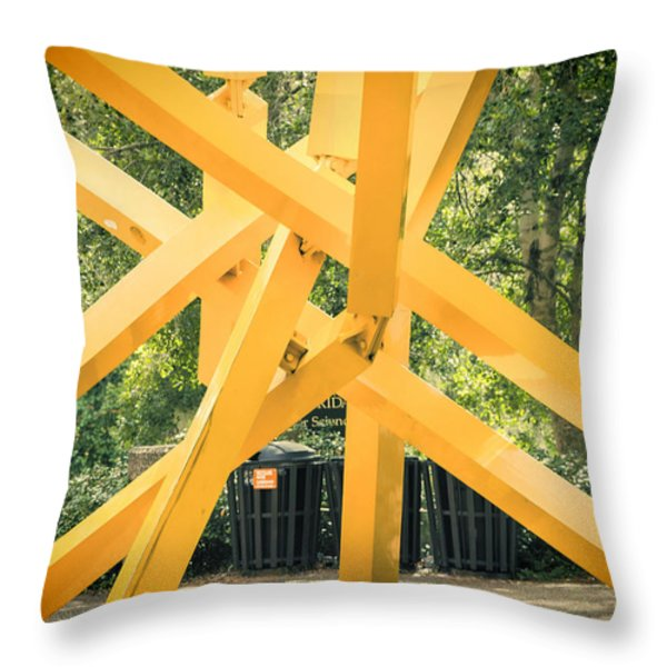 French Fries Throw Pillow by Joan Carroll