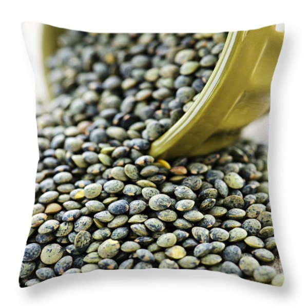 French lentils Throw Pillow by Elena Elisseeva