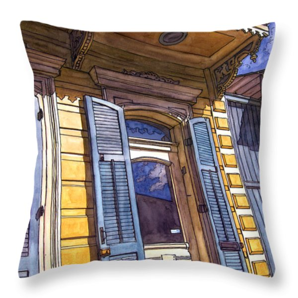 French Quarter Door #346 Throw Pillow by John Boles