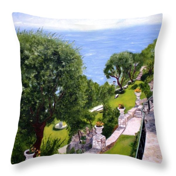 French Riviera Throw Pillow by Graciela Castro