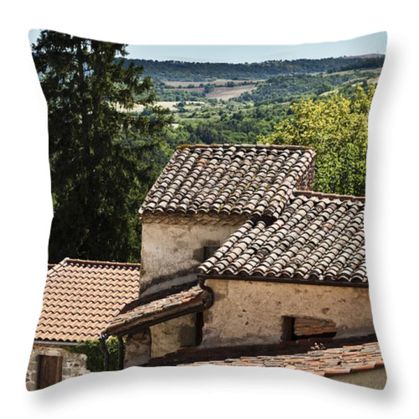 French Roofs Throw Pillow by Georgia Fowler