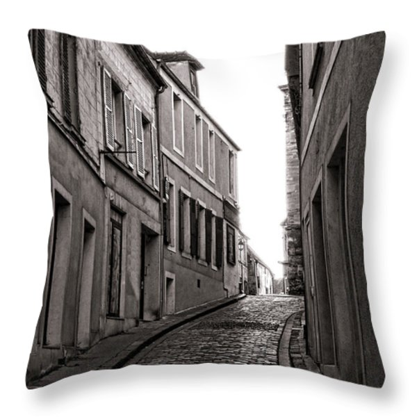 French Street Throw Pillow by Olivier Le Queinec