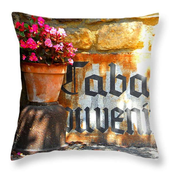 French Tabac Throw Pillow by Lauren Hunter