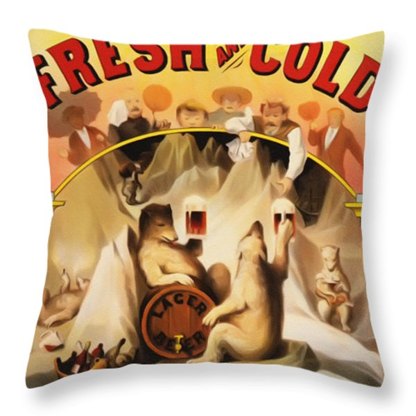 Fresh And Cold Direct From The North Pole Throw Pillow by Digital Reproductions