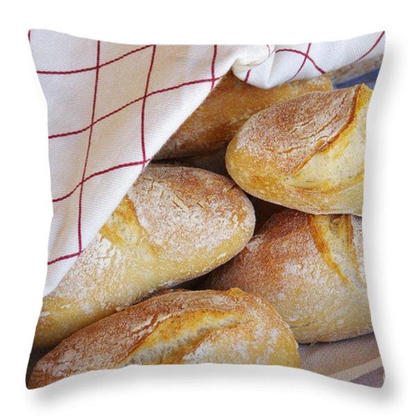 Fresh Bread Throw Pillow by Carlos Caetano