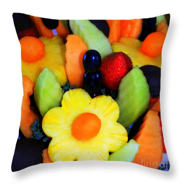 Fresh Fruit Throw Pillow by Kathleen Struckle