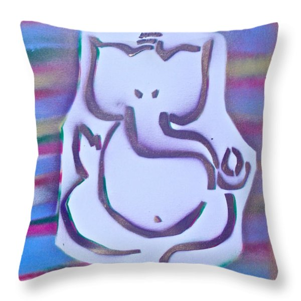 Fresh Ganesh 1 Throw Pillow by TONY B CONSCIOUS