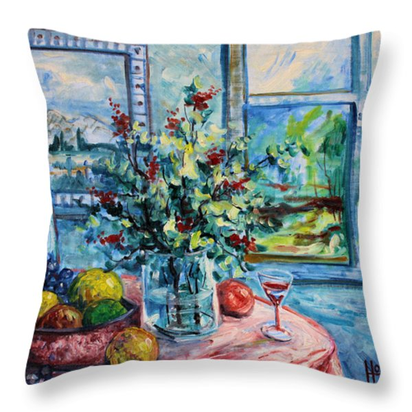 Fresh Spring Throw Pillow by Leonard Holland