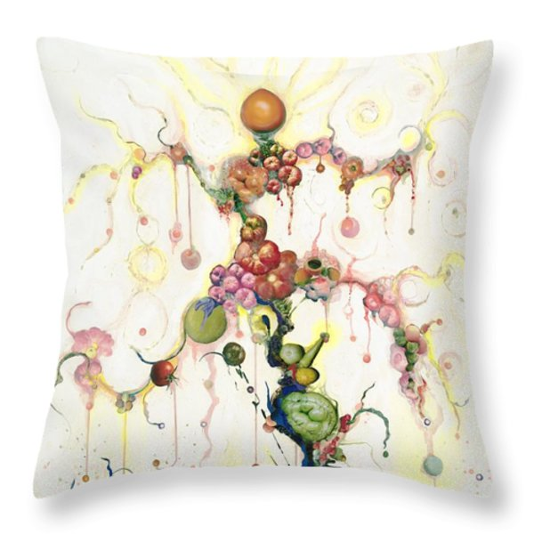Fried Pink Tomatoes Throw Pillow by Douglas Fromm