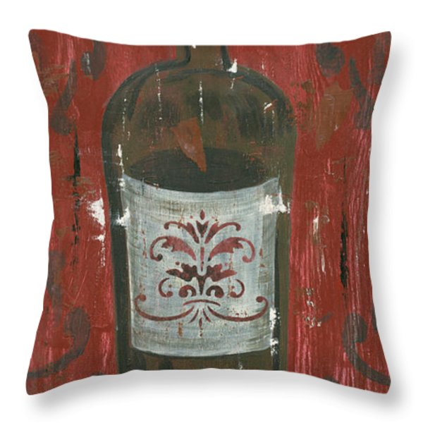 Friendships Like Wine Throw Pillow by Debbie DeWitt