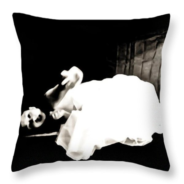 Frightened By The Light Throw Pillow by Jessica Shelton