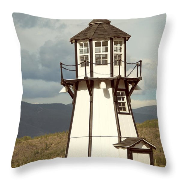Frisco Bay Marina Lighthouse Throw Pillow by Juli Scalzi