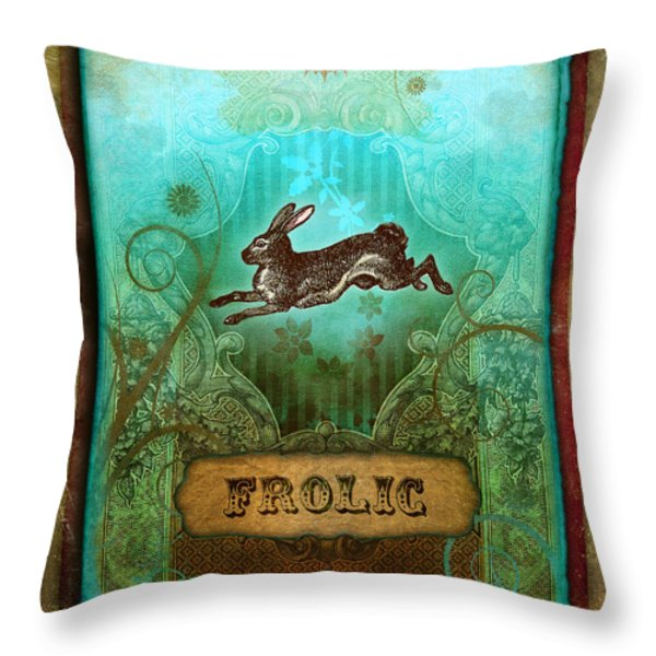 Frolic Throw Pillow by Aimee Stewart
