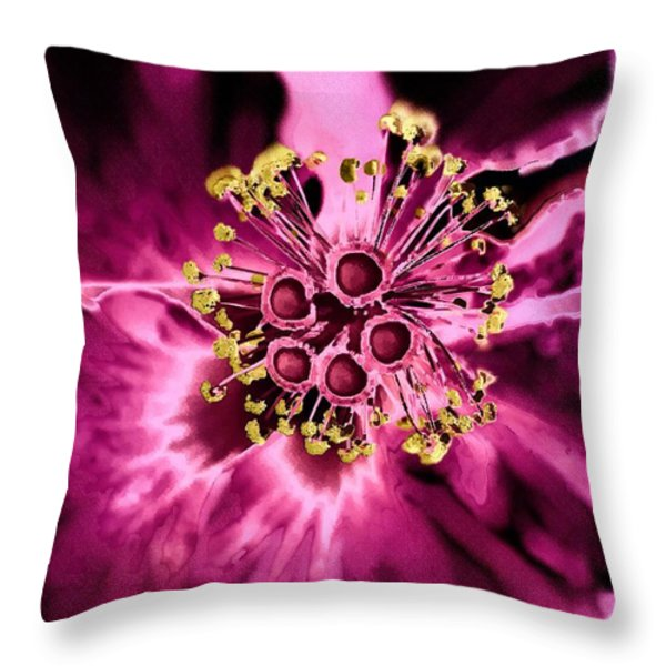 From A Strange Garden Throw Pillow by Barbara Drake