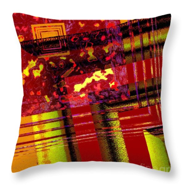 From Red To Brown Tones Throw Pillow by Mario  Perez
