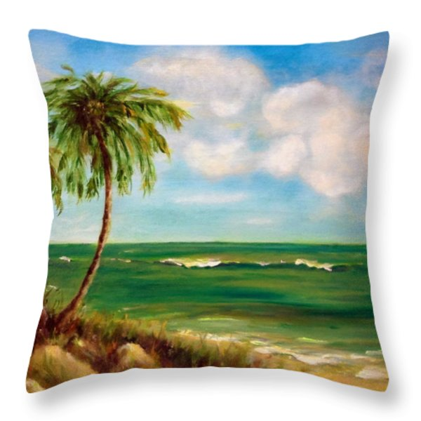 From The Beach Throw Pillow by Anne Barberi