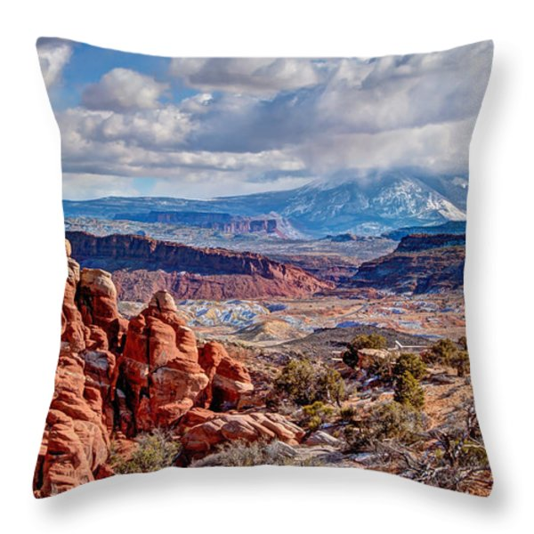 From The Fiery Furnace Throw Pillow by Bob and Nancy Kendrick