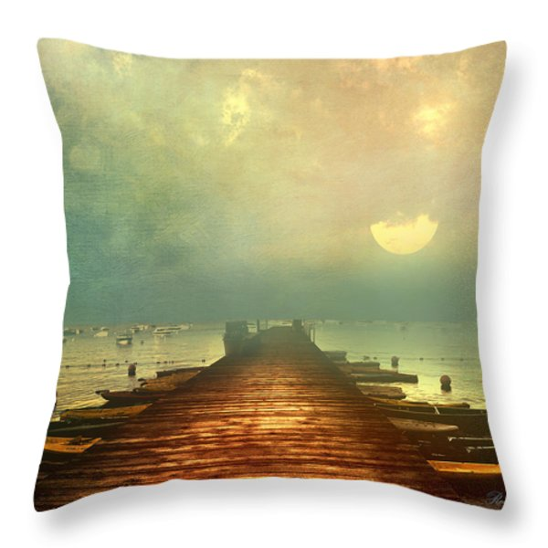 From The Moon To The Mist Throw Pillow by Georgiana Romanovna