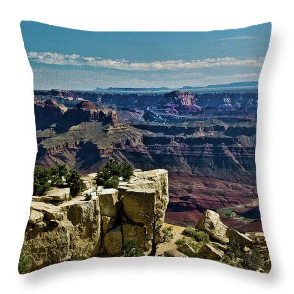 From Yaki Point 2 Grand Canyon Throw Pillow by Bob and Nadine Johnston