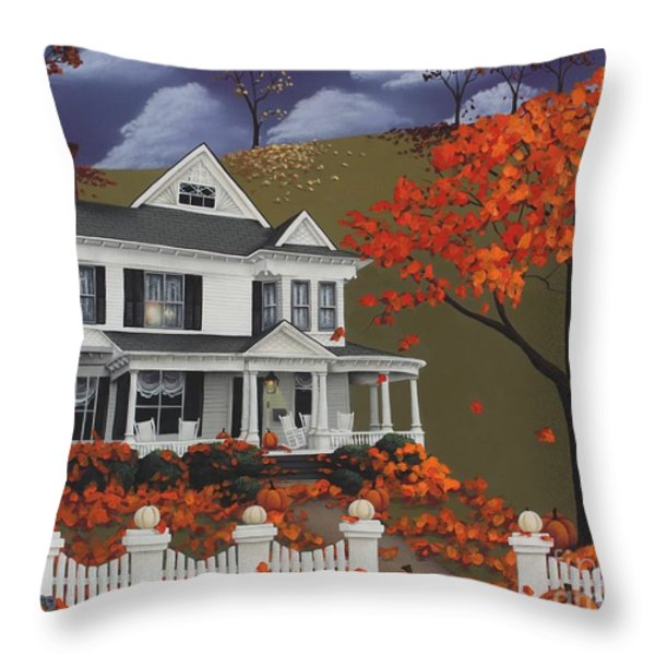 Front Row Seats At Wingate Place Throw Pillow by Catherine Holman