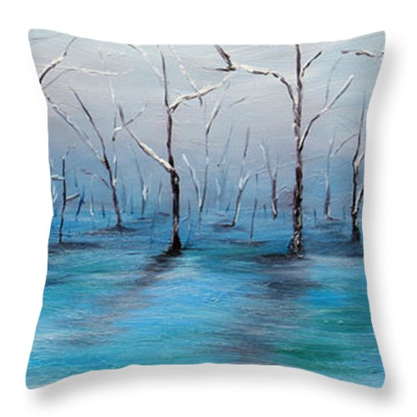 Frost Like Ashes Throw Pillow by Meaghan Troup