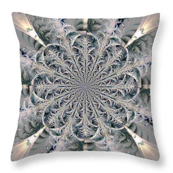 Frost Seal Throw Pillow by Anastasiya Malakhova