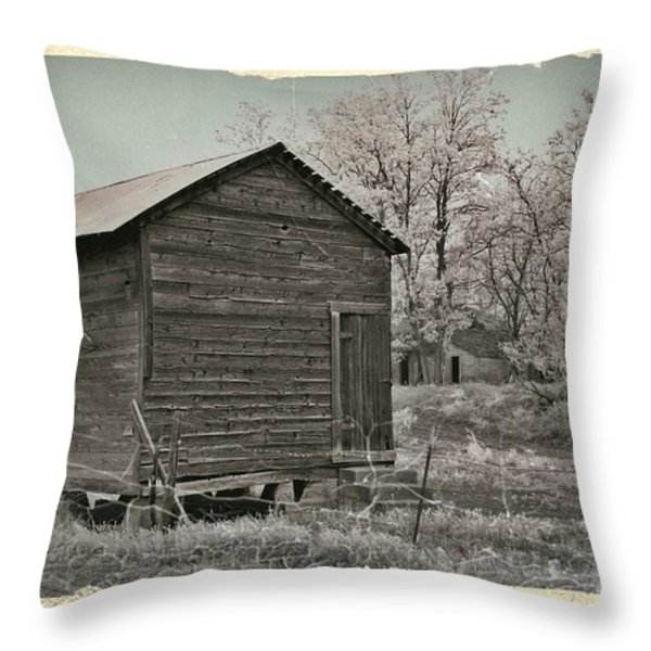 Frosty Morning Sepia 1 Throw Pillow by Chalet Roome-Rigdon