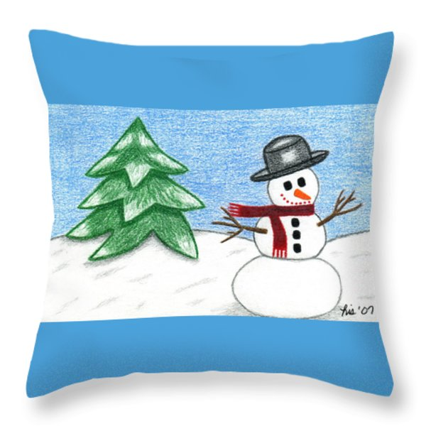 Frostyland Throw Pillow by Lisa Ullrich