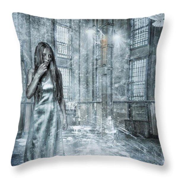 Frozen Hope Throw Pillow by Erik Brede