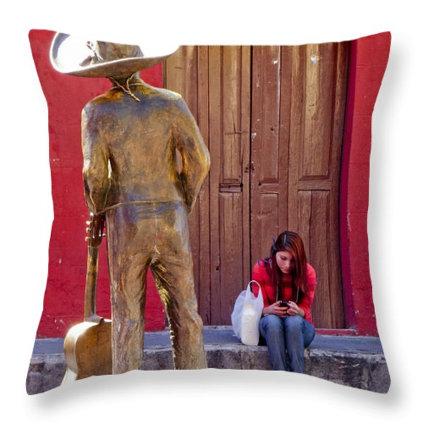 Frozen in Time Throw Pillow by Douglas J Fisher