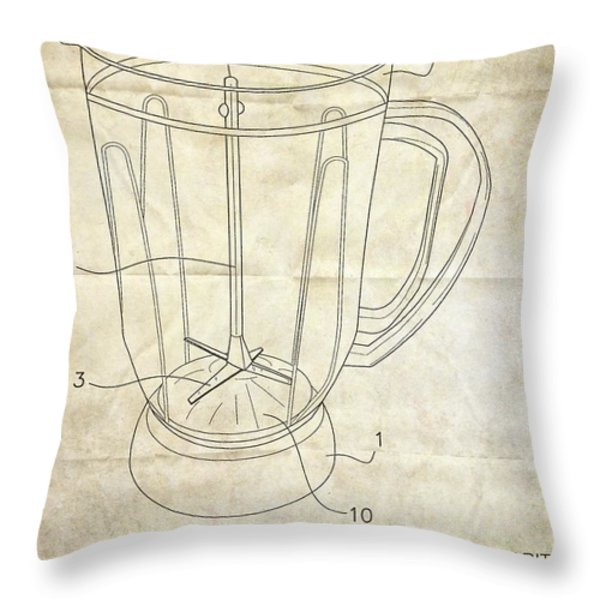 Frozen Margarita Recipe Patent Throw Pillow by Edward Fielding