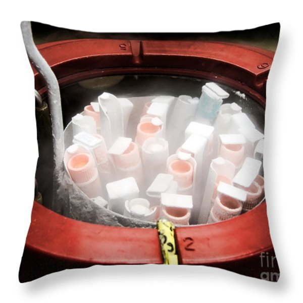 Frozen Throw Pillow by Olivier Le Queinec