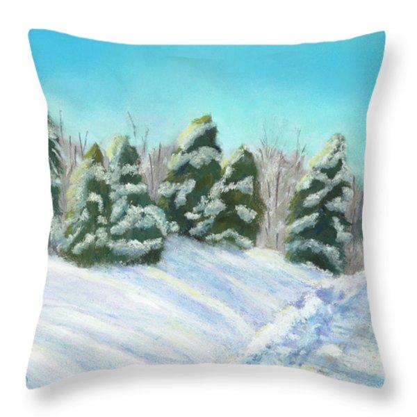 Frozen Sunshine Throw Pillow by Arlene Crafton