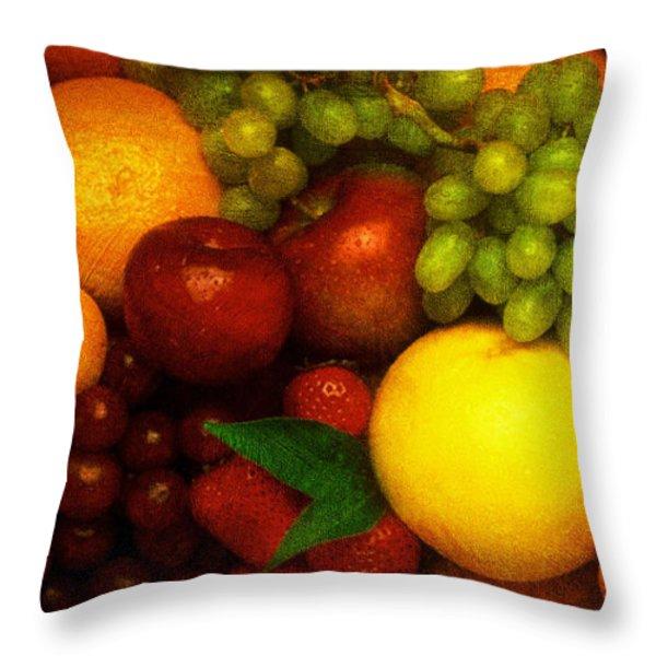 Fruit Throw Pillow by Mauro Celotti