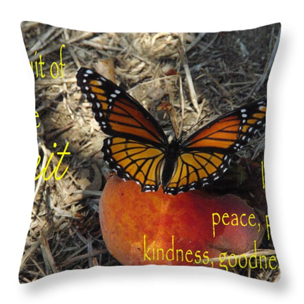 Fruit Of The Spirit Throw Pillow by Robyn Stacey