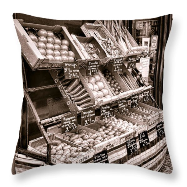 Fruits et Legumes Throw Pillow by Olivier Le Queinec
