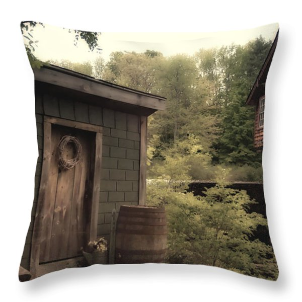 Frye's Measure Mill Throw Pillow by Joann Vitali
