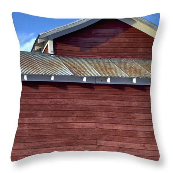 Ft Collins Barn 13550 Throw Pillow by Jerry Sodorff