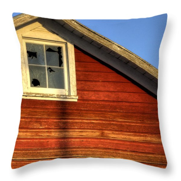 Ft Collins Barn Sunset 2 13508 Throw Pillow by Jerry Sodorff
