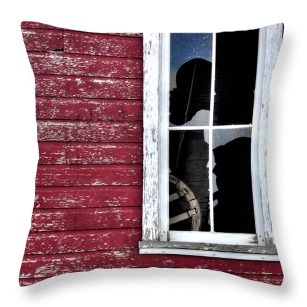 Ft Collins Barn Window 13568 Throw Pillow by Jerry Sodorff