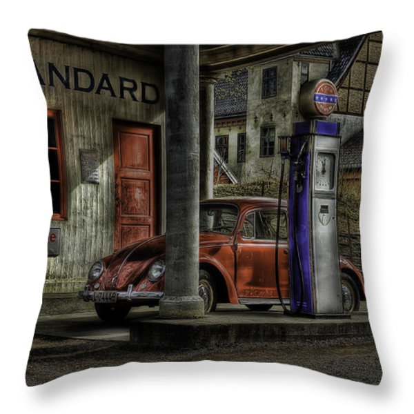 Fuel Throw Pillow by Erik Brede