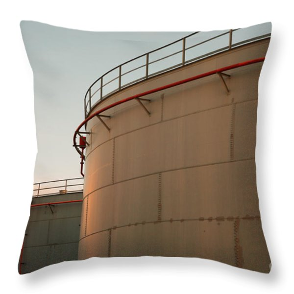 Fuel Tanks Throw Pillow by Gaspar Avila