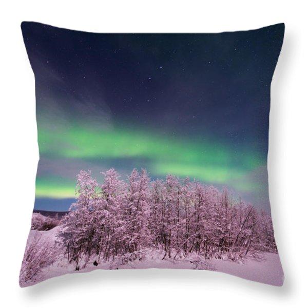 full moon lights Throw Pillow by Priska Wettstein