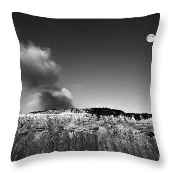 Full Moon Over Cape Cod Throw Pillow by Diane Diederich