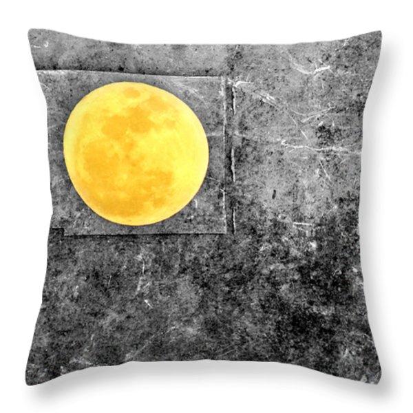 Full Moon Throw Pillow by Rebecca Sherman