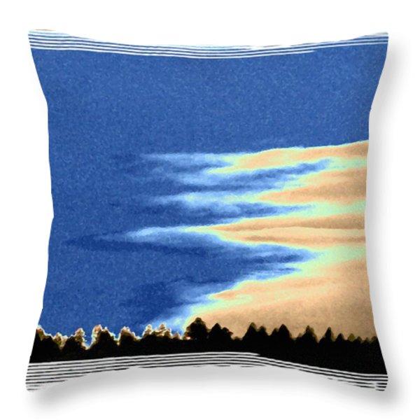 Full Moon Rising Throw Pillow by Will Borden