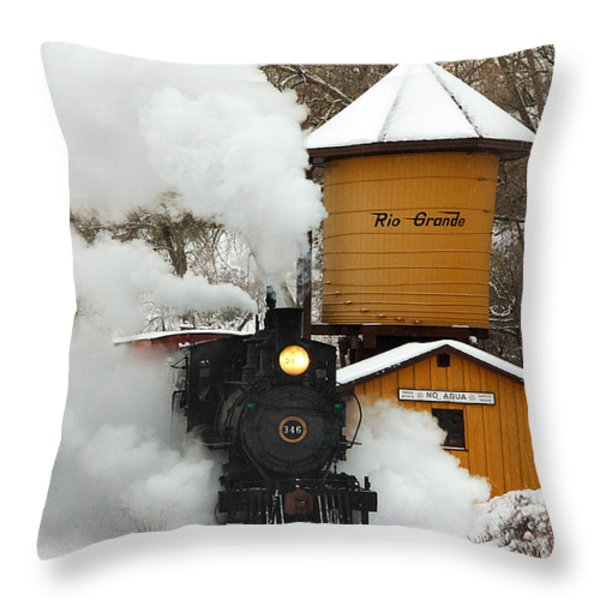 Full Steam Ahead Throw Pillow by Ken Smith