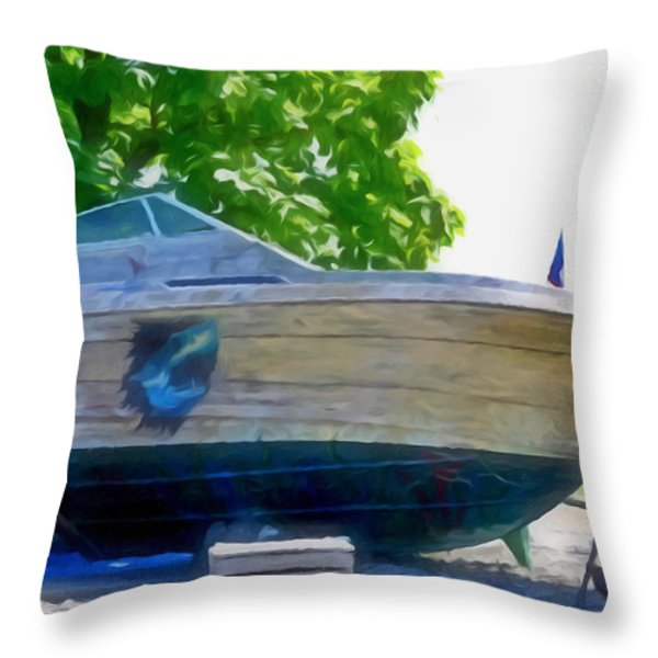 Funplex Funpark Boat 5 Throw Pillow by Lanjee Chee